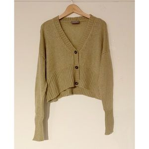 WOODEN SHIPS Cropped Cardigan Sweater